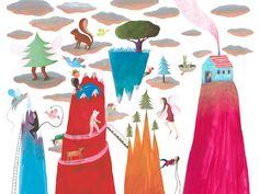 Preciosa la ilustración de la nueva página web de La casita de Wendy