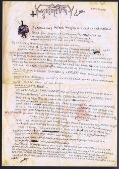 Dead's letter to Metallion