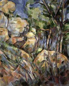 Paul Cezanne, n.d, Rocks Near the Caves Below the Chateau Noir #art #painting