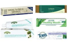 """Your Guide to The Best Natural Toothpastes: """"Five of the most common chemicals to watch out for include fluoride, triclosan, sodium lauryl sulfate, propylene glycol, and DEA. Healthy Toothpaste, Best Natural Toothpaste, Natural Skin, Natural Health, Au Natural, Natural Living, Beauty Products To Make At Home, One Green Planet, Homemade Essential Oils"""