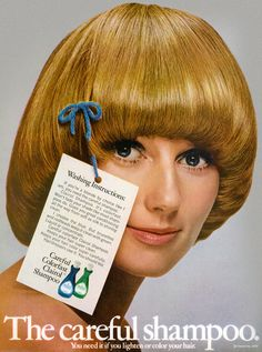 This is my much coveted hair style. When I finally got my hair cut, it just didn't look anything like this! 1970s Hairstyles, Vintage Hairstyles, Pageboy Haircut, Mushroom Hair, Pub Vintage, Beauty Ad, Color Your Hair, Bowl Cut, Hair