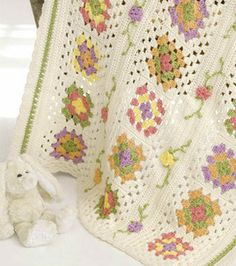 """""""Granny Square Baby Blanket""""...download the pdf free for this sweet blanket!"""