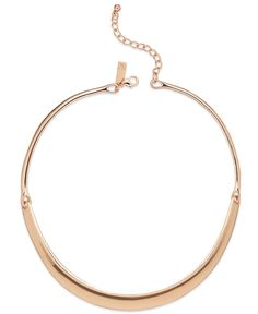 INC International Concepts Rose Gold-Tone Three-Part Collar Necklace
