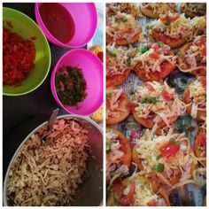 Mini Pizza **chicken Filling** recipe by Shaheema Khan posted on 10 Apr 2019 . Recipe has a rating of by 1 members and the recipe belongs in the Pastas, Pizzas recipes category Pizza Recipes, Real Food Recipes, Chocolate Tiramisu, Filling Recipe, Food Categories, Melted Cheese, Cheddar Cheese, Lunch, Stuffed Peppers