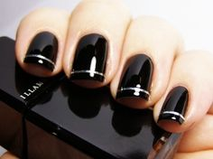 nail polish idea, dark nail polish