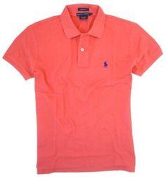 Polo Ralph Lauren Womens Skinny Polo Shirt (X-Small, Skipper Red) Ralph Lauren. $32.31