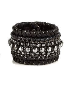 Swarovski Crystals & Leather