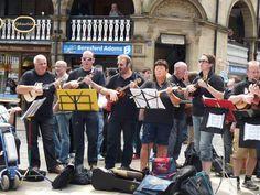 N'ukes ukulele band at the Chester Cross