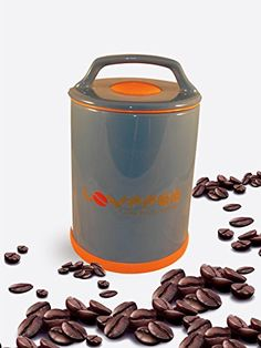 Amazon LOVFFEE Black Ceramic Premium Coffee Canister with