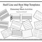 Every music teacher needs these copy masters in their teaching toolbox! Use these printables/projectables for elementary music ear training, dictat...