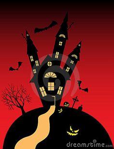 Halloween castle by Nataliya Kostenyukova, via Dreamstime