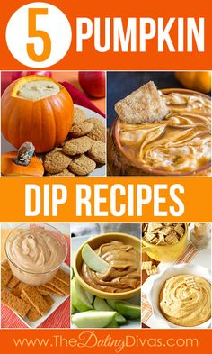 Five flavorful pumpkin dip recipes to try this fall.  Delish!