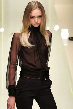 Love this sheer black look . Will be seen on the street . I'd wear it with a pretty opaque black bra ...