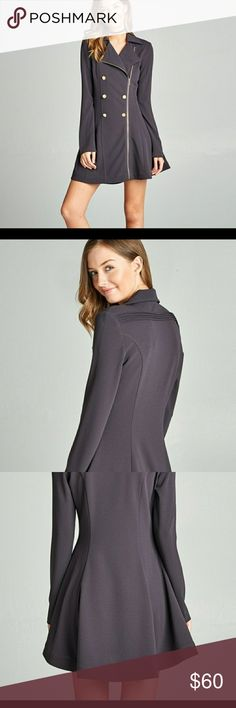 😍Super cute trench jacket peacoat It is extremely cute! It is even cuter than pictures!! Lilac grey color very detailed. Style dress peacoat! Like bundle and save😍 😍 Jackets & Coats Pea Coats