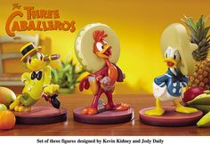 Disney Three Caballeros Big Figures by Miehana, via Flickr