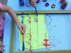 Rubber Band Splatter Painting | Kids Crafts & Activities for Children | Kiwi Crate