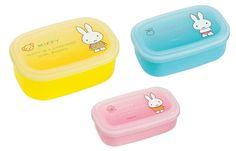 Miffy 3P Seal Case Set 480ml & 300ml & 180ml For Lunch Bento Seal Box Japan #Kutsuwa