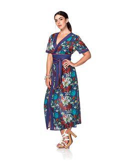 sheego Trend Kleid – indigo bedruckt