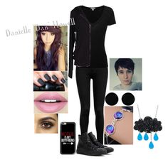 """""""Dan as a girl"""" by fangirlwithproblems ❤ liked on Polyvore featuring Whistles, James Perse, Velvet by Graham & Spencer, Converse, Casetify, AeraVida, Fiebiger, danisnotonfire, danhowell and dan"""