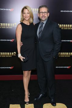 Steve Carell  and Nancy Carell attend the 'Anchorman 2: The Legend Continues' U.S. premiere at Beacon Theatre on December 15, 2013 in New York City.