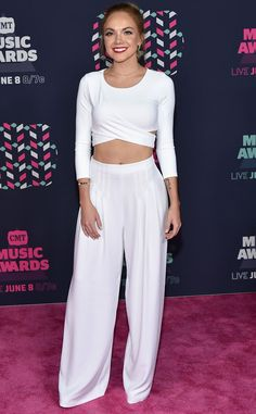"""Danielle Bradbery from CMT Music Awards 2016 Red Carpet Arrivals  The """"Friend Zone"""" singer and The Voice alumna proves white may be the color of the night."""