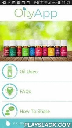 OilyApp  Android App - playslack.com ,  OilyApp is a jam-packed resource for both newbie and experienced therapeutic-grade essential oil users whether you just love the oils or want encouragement and resources to share them with your friends! in a unique partnership with Young Living, OilyApp starts with the Premium Starter Kit and then progressively adds more oils while also including entire sections on FAQs, web resources, and how to build your essential oil business. OilyApp has great…