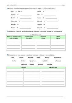 Ejercicios lengua 6º primaria Grammar Book, Spanish Grammar, Home Schooling, Sheet Music, Language, Classroom, Student, Teaching, Activities