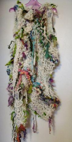 Hand Knit Art Yarn Tunic