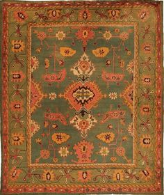 Arts and Crafts Oushak Antique Carpet Oriental Rug - $38000.