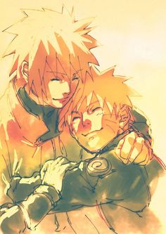 Naruto and Minato | Source: http://www.pixiv.net/member.php?id=7931645