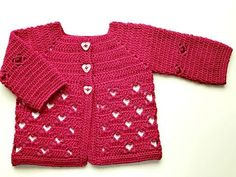 Crochet, christening dress part 1 christening, presentation size 0 to 3 months, Valentine& Bear in Baby Cardigan, Cardigan Bebe, Knit Cardigan Pattern, Baby Pullover, Gilet Crochet, Crochet Cardigan, Baby Girl Crochet, Crochet For Kids, Crochet Videos