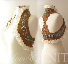 All Season Gypsy Vest by LoveandKnit on Etsy