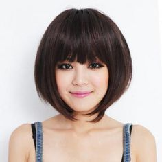 Short Full Wig - Wavy Brown - One Size