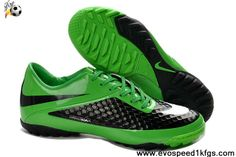 Buy 2013 New Nike Hypervenom TF Flash Lime White Black Football Shoes Store