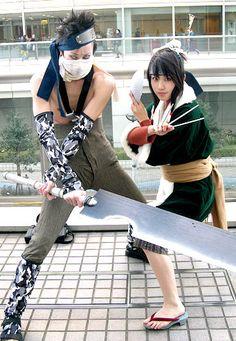 A abuzz looks legit but haiku not so much lol otherwise pretty kool Zabuza and Haku from Naruto #cosplay