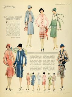 1926 Print McCalls Dressmaking Patterns Womens Flapper Fashion Clothing Hats | eBay