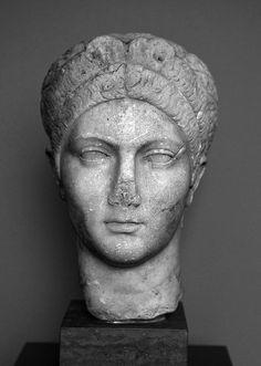 The Empress Sabina: Copenhagen 774 by ortygia, via Flickr 128 C.E.  Possible idea for shorter hair