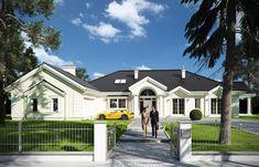 Projekat luksuzne prizemne kuće s garažom Home Fashion, House Plans, New Homes, Exterior, House Design, How To Plan, House Styles, Projects, Home Decor