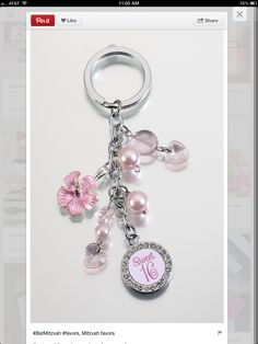 This cute Sweet Sixteen Birthday Car Keys Keychain makes a great Birthday gift! Perfect for her new car keys! The silver-plated links are decorated with hanging pink acrylic charms, a pink flower charm and off-white beads. Sweet 16 Favors, Sweet 16 Gifts, Sweet 15, 16th Birthday Gifts, Sweet 16 Birthday, Paris Birthday, Key Keychain, Keychains, Sweet Sixteen Parties