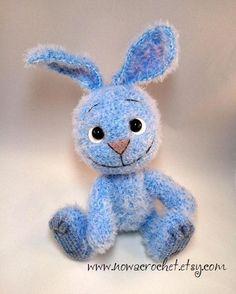 Bunny Liebwin amigurumi PDF crochet pattern by Nowacrochet