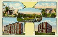 University of North Dakota  Early 20th century campus scenes
