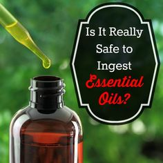 Is is safe to ingest essential oils?  That is a frequent question among new users of essential oils and one that should be taken seriously.   Is it really safe to ingest essential oils | Backdoor Survival