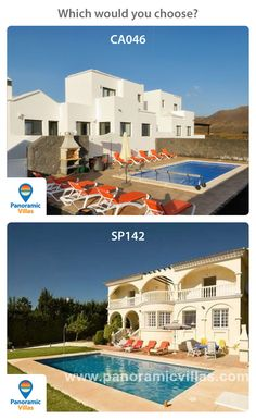 Canaries or Costa del Sol, which of these 2 large 5 beroom villas with their own private pool and stunning views would you choose http://www.panoramicvillas.com/villa/spain/mijas-golf/villa-sp142/ or http://www.panoramicvillas.com/villa/canary-islands/playa-blanca/villa-ca046/ #canaries #costadelsol