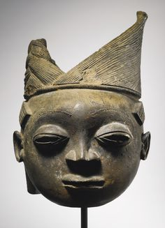 Yoruba-Ijebu Terracotta Head from an Osugbo Shrine, Nigeria