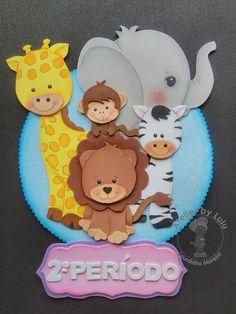 placa safari baby feita por mim para a turminha de 2 a 3 aninhos.
