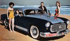 Harden Hawk on Daytona Beach - custom Kaiser, chopped top, with Nash grill