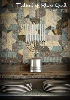Festival Of Stars Hanukkah Quilt {By Prairie Grass Patterns}