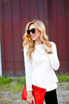 white tiered peplum top / a pinch of lovely