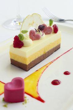 ... chocolate mousse cake. raspberry ice cream. pistachio crystals. #