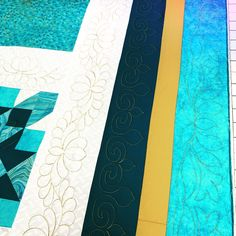 Three really beautiful borders! Colors I changed so you can see the quilting. Handi Quilter, How To Finish A Quilt, Longarm Quilting, Tired, Quilts, Colors, Fun, Inspiration, Beautiful